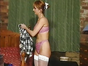 Hot women posing and fucking in vintage lingerie