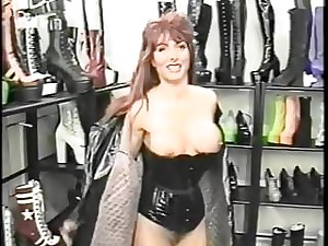 Classic babes dressed in latex gets fucked