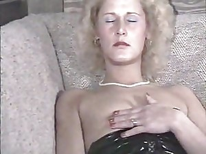 Vintage women with sex-toy